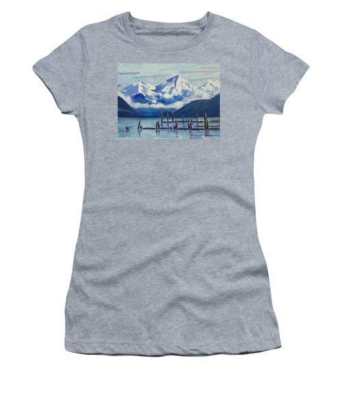 Winter Mountains Alaska Women's T-Shirt