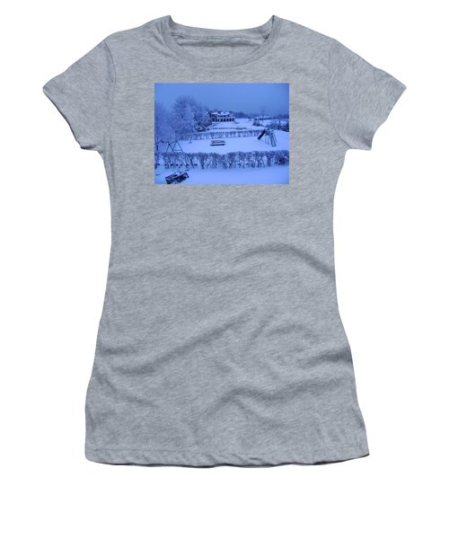 Winter Playground Women's T-Shirt (Athletic Fit)