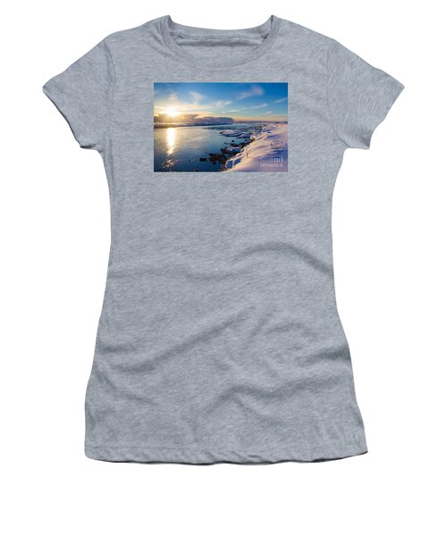 Winter Sunset In Iceland Women's T-Shirt (Athletic Fit)
