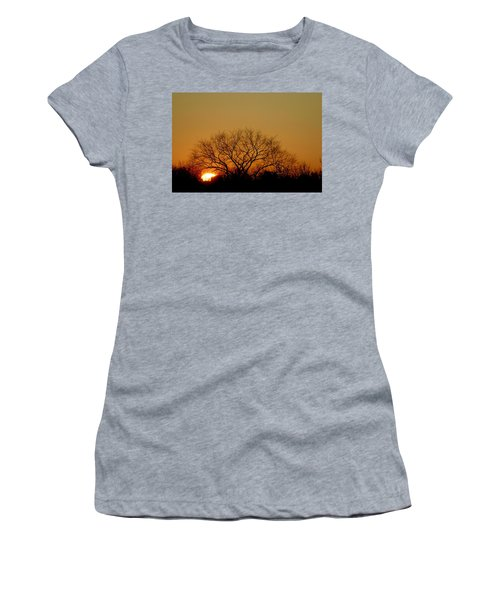 Winter Sunset Women's T-Shirt (Athletic Fit)