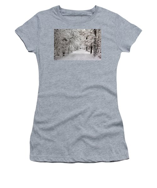Winter Walk In Fairytale  Women's T-Shirt (Athletic Fit)