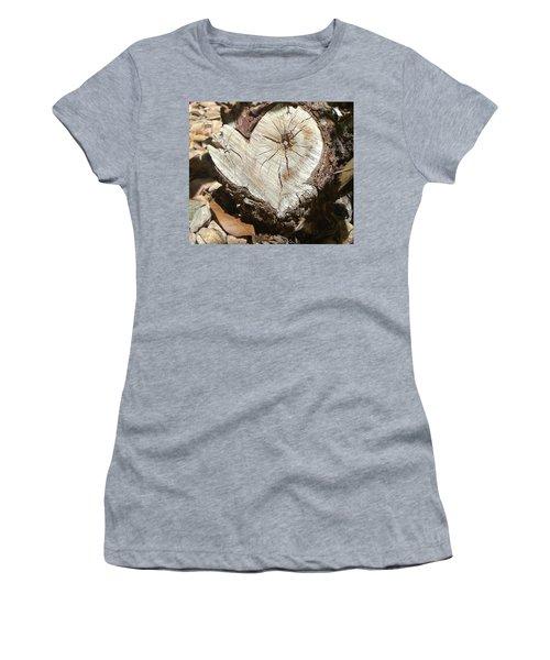 Wood Heart Women's T-Shirt