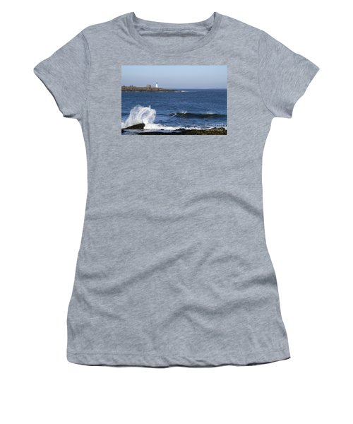 Wood Island Light Women's T-Shirt (Athletic Fit)