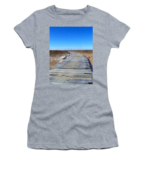 Women's T-Shirt (Junior Cut) featuring the photograph Plum Island by Eunice Miller