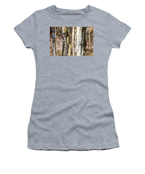 Women's T-Shirt (Junior Cut) featuring the photograph Woody by Sennie Pierson
