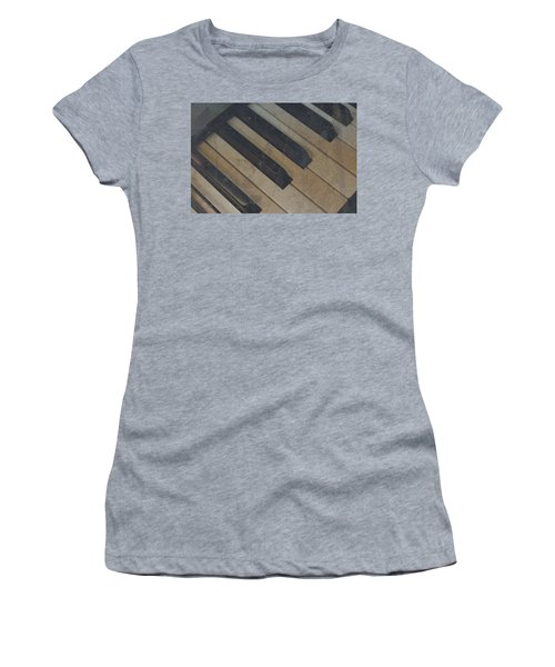 Women's T-Shirt (Junior Cut) featuring the photograph Worn Out Keys by Photographic Arts And Design Studio