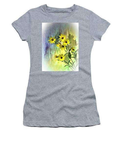 Yellow Daisies Women's T-Shirt (Athletic Fit)