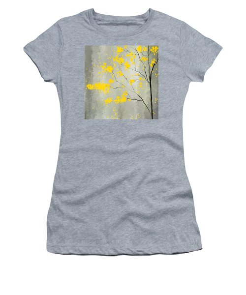 Yellow Foliage Impressionist Women's T-Shirt (Athletic Fit)