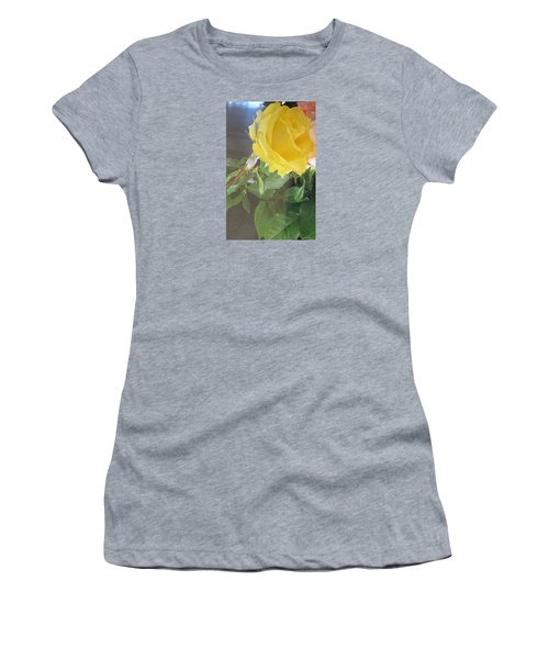Yellow Rose- Greeting Card Women's T-Shirt (Athletic Fit)