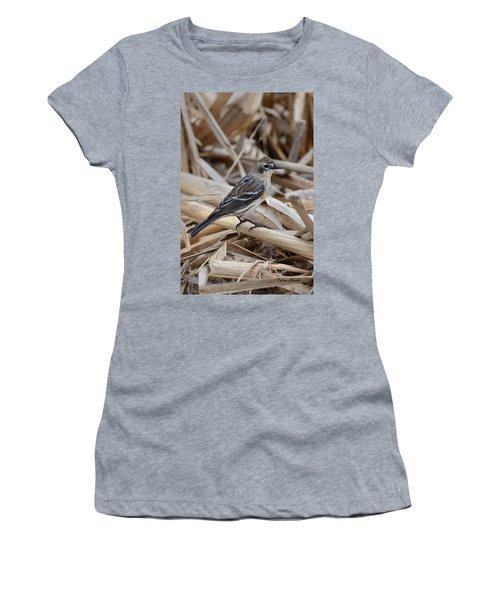 Women's T-Shirt (Junior Cut) featuring the photograph Yellow-rumped Warbler by Debra Martz