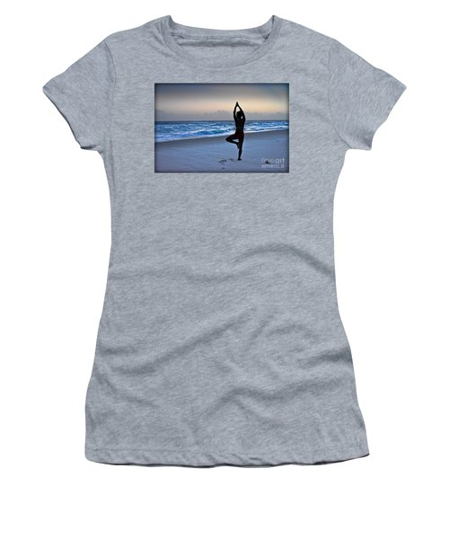 Women's T-Shirt featuring the photograph Yoga Posing  by Gary Keesler