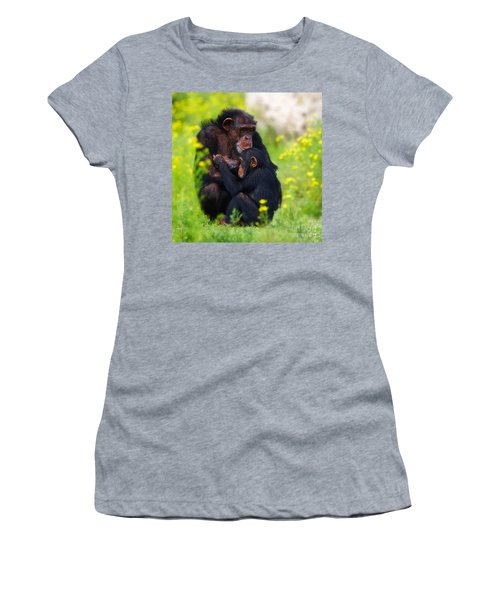 Young Chimpanzee With Adult - II Women's T-Shirt