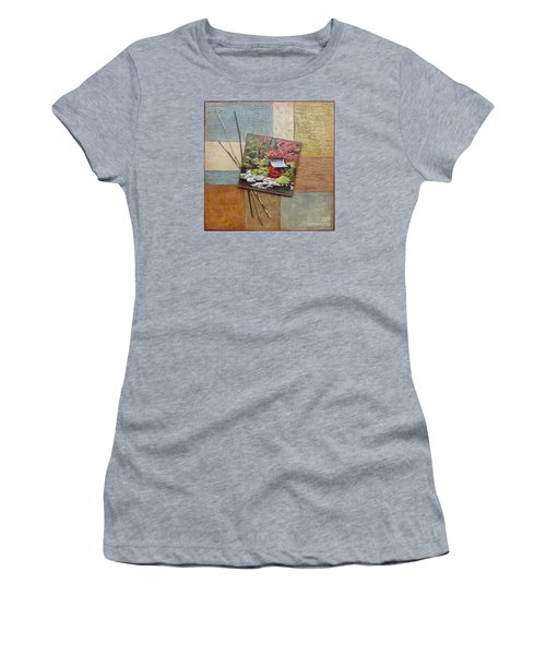 Women's T-Shirt featuring the mixed media Zen Tranquility				 by Phyllis Howard