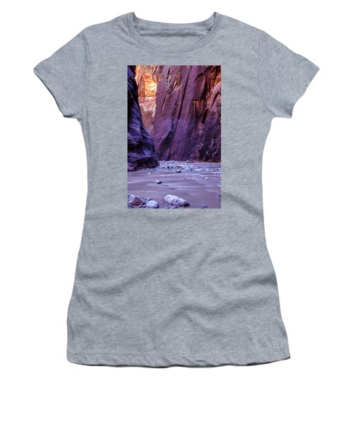 Zion Narrows Women's T-Shirt (Athletic Fit)