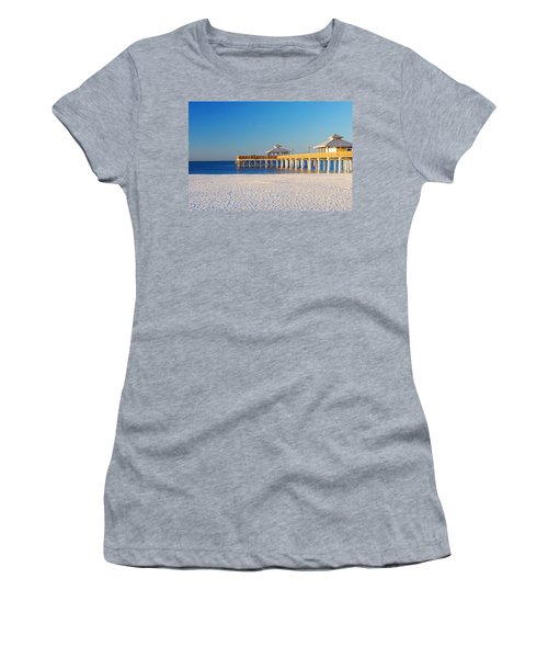 Fort Myers Beach Pier Women's T-Shirt (Athletic Fit)