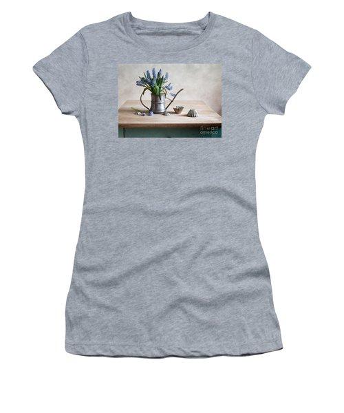 Still Life With Grape Hyacinths Women's T-Shirt