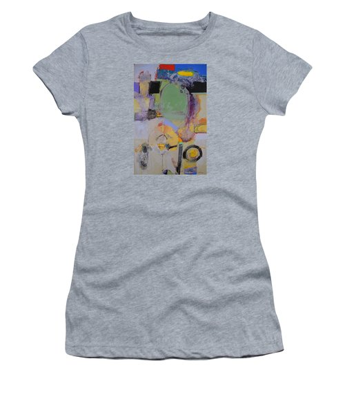 Women's T-Shirt (Junior Cut) featuring the painting 10th Street Bass Hole by Cliff Spohn