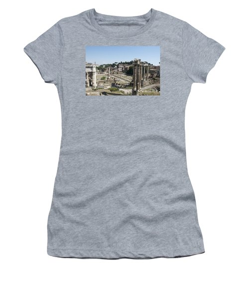 Temple Of Saturn In The Forum Romanum. Rome Women's T-Shirt
