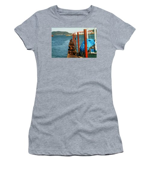 A Dock Of Sea Lions Women's T-Shirt