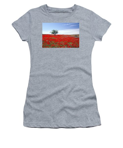 A Tree In A Red Sea Women's T-Shirt (Athletic Fit)