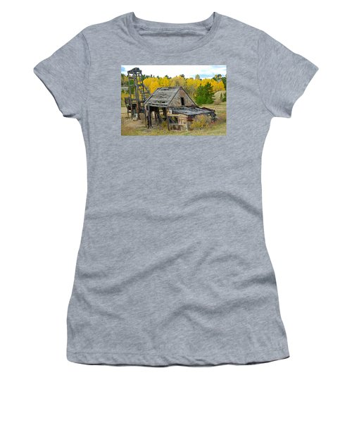 Abandoned Mine In Autumn Women's T-Shirt (Athletic Fit)