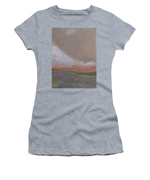 Abstract Landscape - Scarlet Light Women's T-Shirt (Athletic Fit)