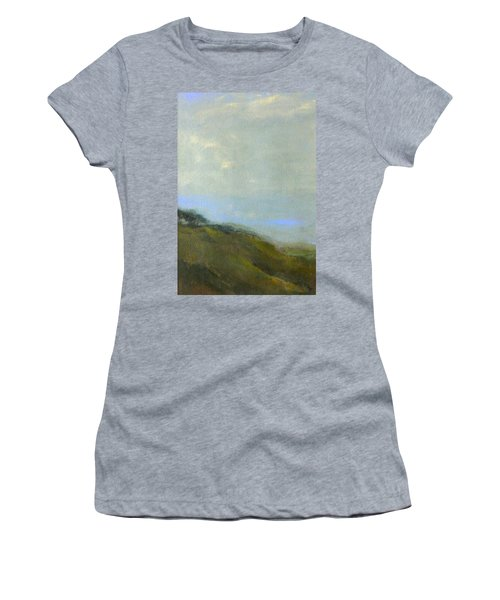 Abstract Landscape - Green Hillside Women's T-Shirt (Athletic Fit)