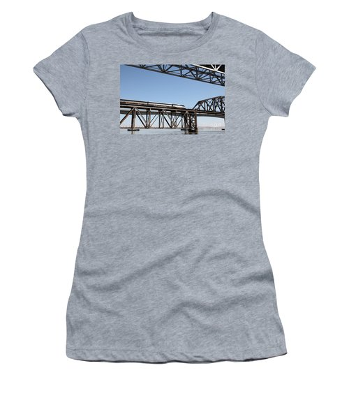 Amtrak Train Riding Atop The Benicia-martinez Train Bridge In California - 5d18837 Women's T-Shirt