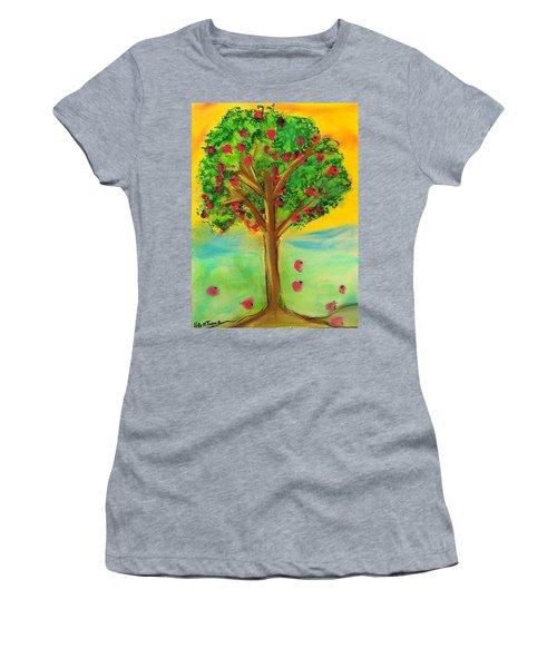 Apple Tree Women's T-Shirt (Athletic Fit)
