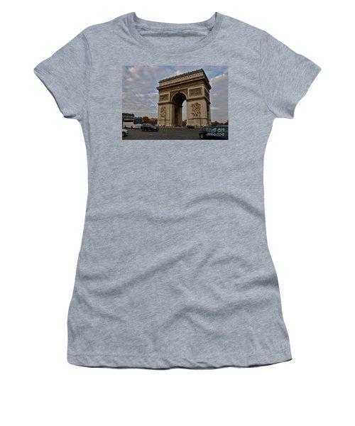 Women's T-Shirt (Junior Cut) featuring the photograph Arc De Triomphe by Eric Tressler