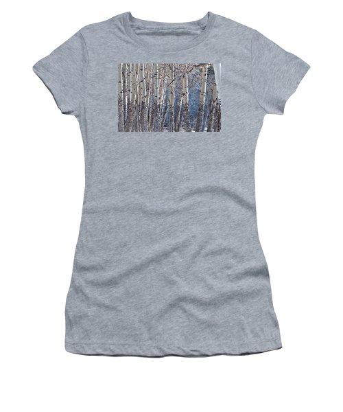 Women's T-Shirt (Junior Cut) featuring the photograph Aspen Grove by Colleen Coccia