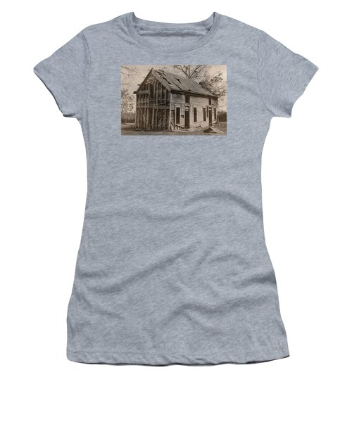 Battered And Leaning Women's T-Shirt (Athletic Fit)