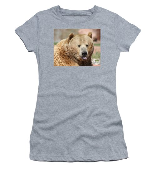 Bear Rasberry Women's T-Shirt (Junior Cut) by Living Color Photography Lorraine Lynch