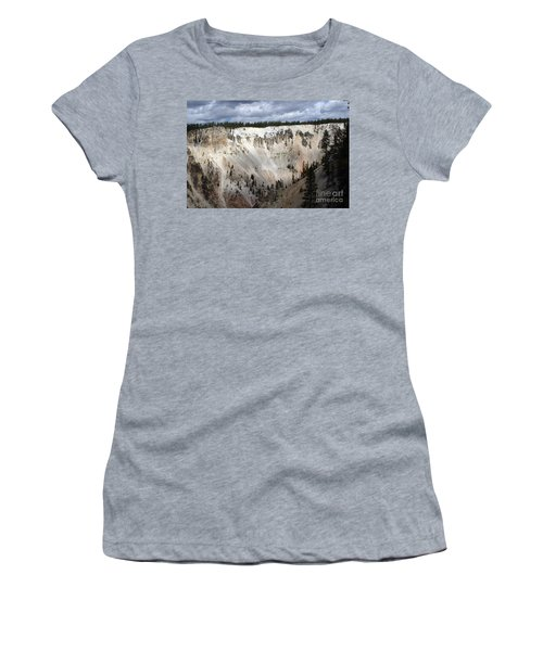 Beautiful Lighting On The Grand Canyon In Yellowstone Women's T-Shirt (Junior Cut) by Living Color Photography Lorraine Lynch
