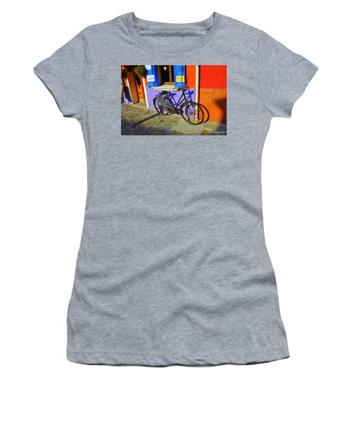 Bicycle Stance Burano Italy Women's T-Shirt (Athletic Fit)