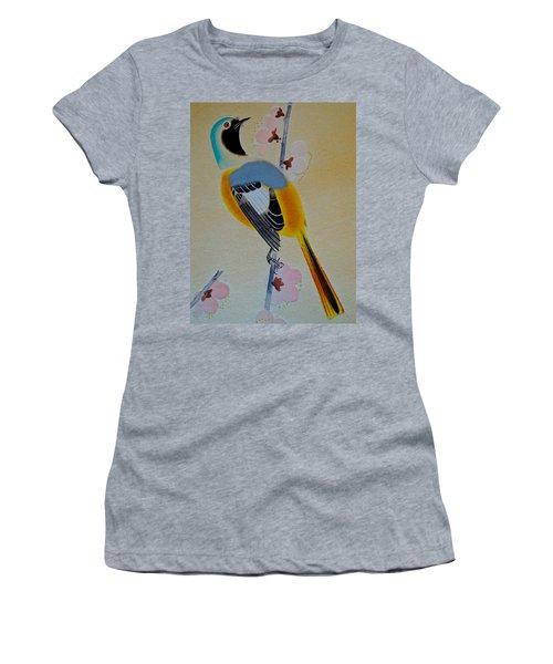 Bird Print Women's T-Shirt (Athletic Fit)