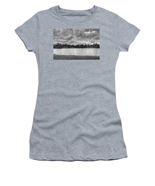 Women's T-Shirt (Junior Cut) featuring the photograph Black And White Autumn Day by Michael Frank Jr