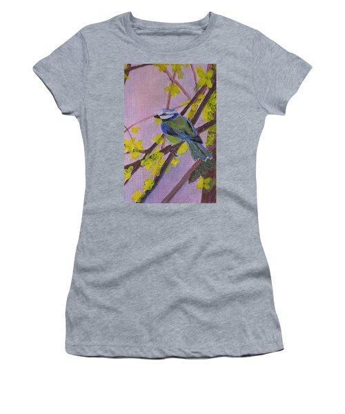 Blue Bird Women's T-Shirt (Junior Cut) by Christy Saunders Church