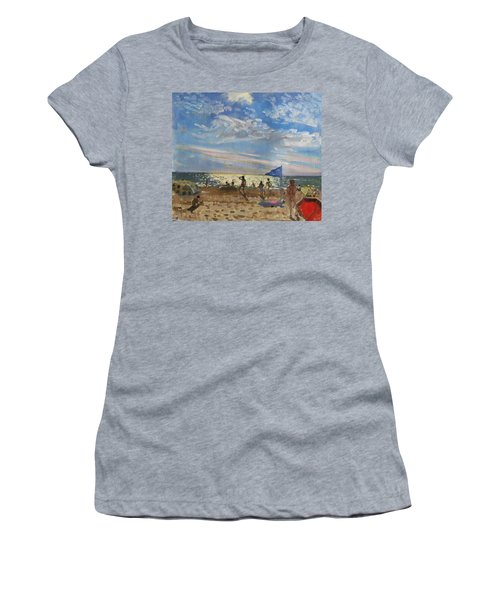 Blue Flag And Red Sun Shade Women's T-Shirt