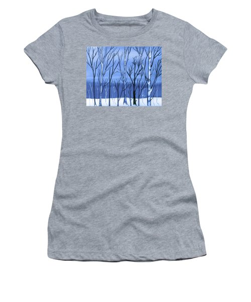 Blue Interlude Women's T-Shirt (Athletic Fit)