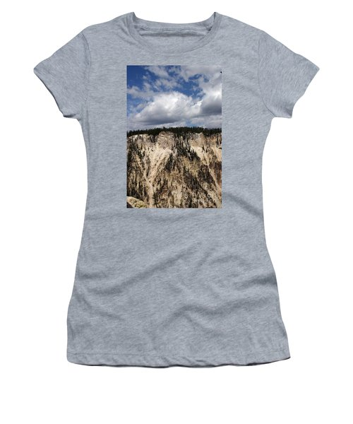 Blue Skies And Grand Canyon In Yellowstone Women's T-Shirt (Junior Cut) by Living Color Photography Lorraine Lynch