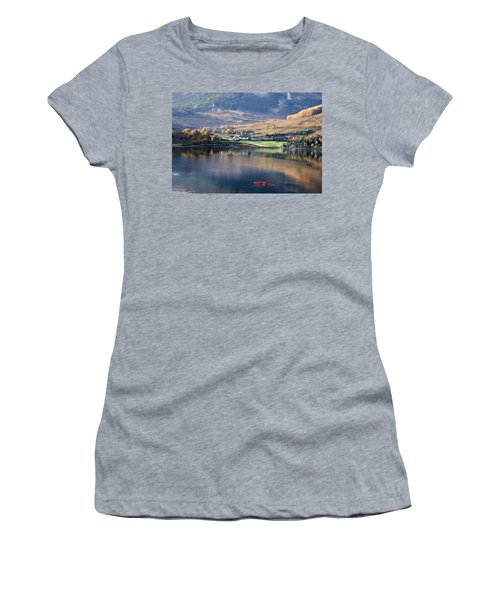 Women's T-Shirt (Junior Cut) featuring the photograph Canoeing On Loch Goil by Lynn Bolt
