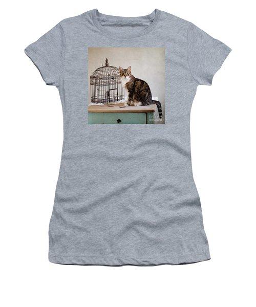 Cat And Bird Women's T-Shirt
