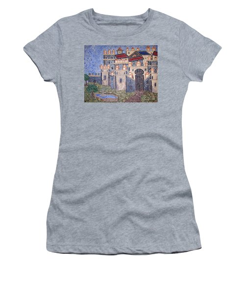 Women's T-Shirt featuring the painting City Of Granada Old Map by Cynthia Amaral