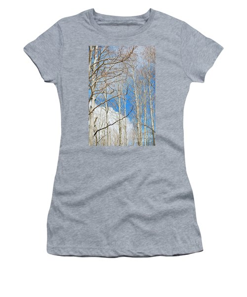 Cloudy Aspen Sky Women's T-Shirt