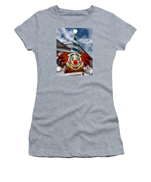 Clown Around Women's T-Shirt (Junior Cut) by Colleen Kammerer