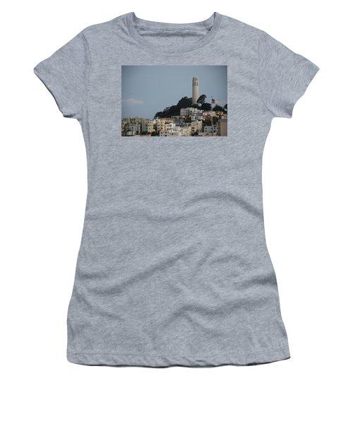 Women's T-Shirt (Junior Cut) featuring the photograph Coit Tower by Eric Tressler