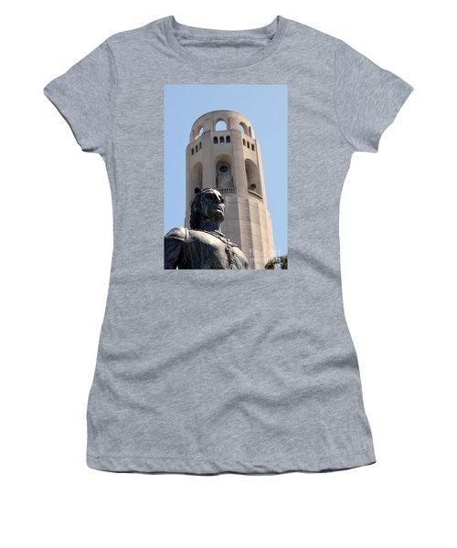 Coit Tower Statue Columbus Women's T-Shirt