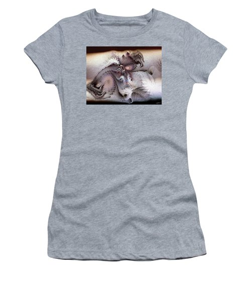 Women's T-Shirt (Junior Cut) featuring the digital art Derailing Destiny by Casey Kotas