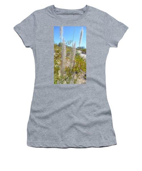 Women's T-Shirt (Junior Cut) featuring the photograph Desert Trail by Kume Bryant